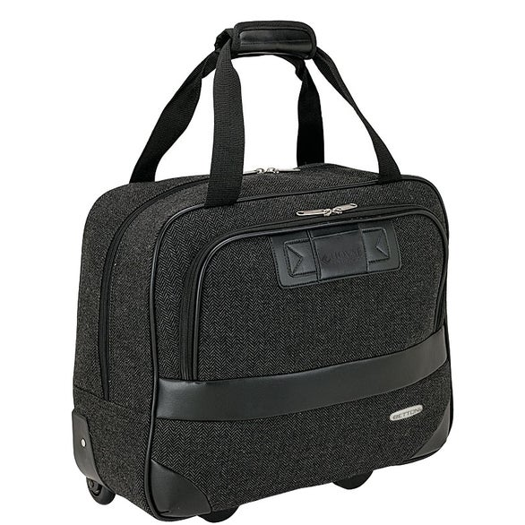 Black Bettoni Rolling Executive Travel Briefcase