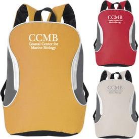 Monogrammed Bi Colored Backpack