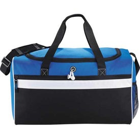 Big Stripe Duffel Imprinted with Your Logo