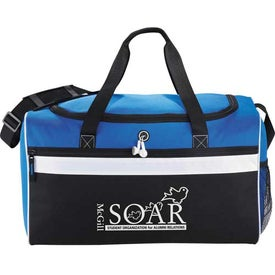 Big Stripe Duffel Branded with Your Logo