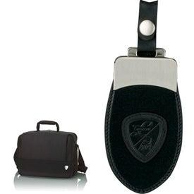 Monogrammed Black Briefcase