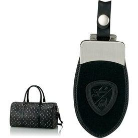 Monogrammed Black Duffel Bag