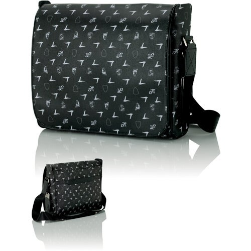 Lamborghini Black Shoulder Bag