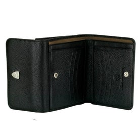 Monogrammed Black Wallet