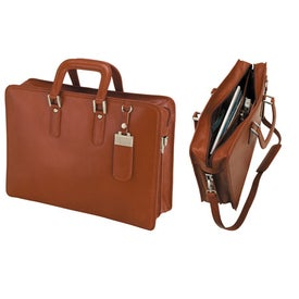 Brescia Panarcci Leather Briefcase