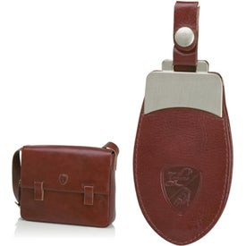 Advertising Brown Shoulder Bag