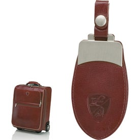 Imprinted Brown Trolley Case