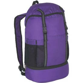 Budget Sports Backpack with Insulated Bottom for Advertising