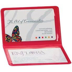 Promotional Business Card/License Holder