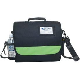 Monogrammed Business Messenger Bag with ID Pocket