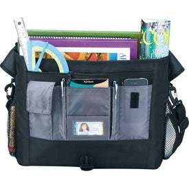 Promotional Buzz Checkpoint-Friendly Compu-Messenger Bag