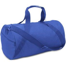 Monogrammed Cafiso Barrel Duffel Bag