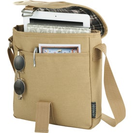 Field and Co. Cambridge Tablet Messenger Bag for Promotion