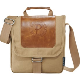 Field and Co. Cambridge Tablet Messenger Bag Branded with Your Logo
