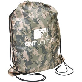 Camo Drawstring Backpacks
