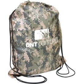 Camo Drawstring Backpack