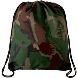 Camo Drawstring Backsack Branded with Your Logo