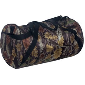 Branded Camouflage Round Duffel