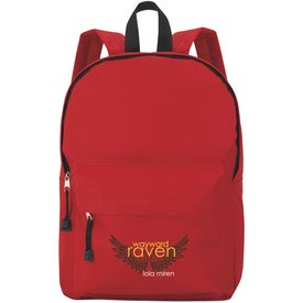 Casual Backpack Imprinted with Your Logo