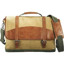 Branded Cutter & Buck Legacy Cotton Compu-Messenger Bag