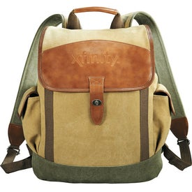 Printed Cutter & Buck Legacy Cotton Rucksack Backpack