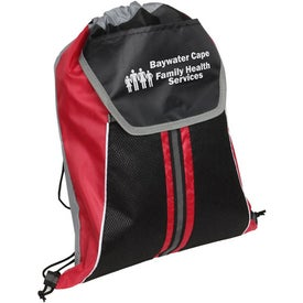 Promotional Center Line Drawstring Backpack