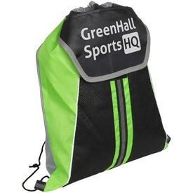 Monogrammed Center Line Drawstring Backpack