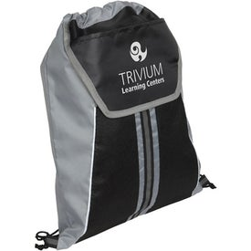 Center Line Drawstring Backpack with Your Logo