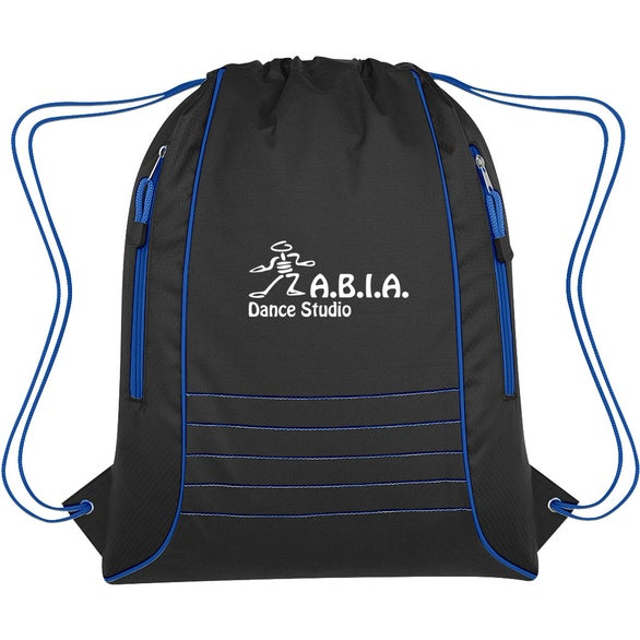 Black / Blue Challenger Drawstring Sports Pack