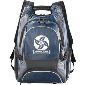 Imprinted Elleven Drive Checkpoint Friendly Compu-Backpack