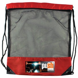 Imprinted Cinch Bag Draw String Mesh Backpack