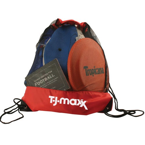 Cinch Bag Draw String Mesh Backpack