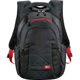 Branded Case Logic Cross-Hatch Compu-Backpack