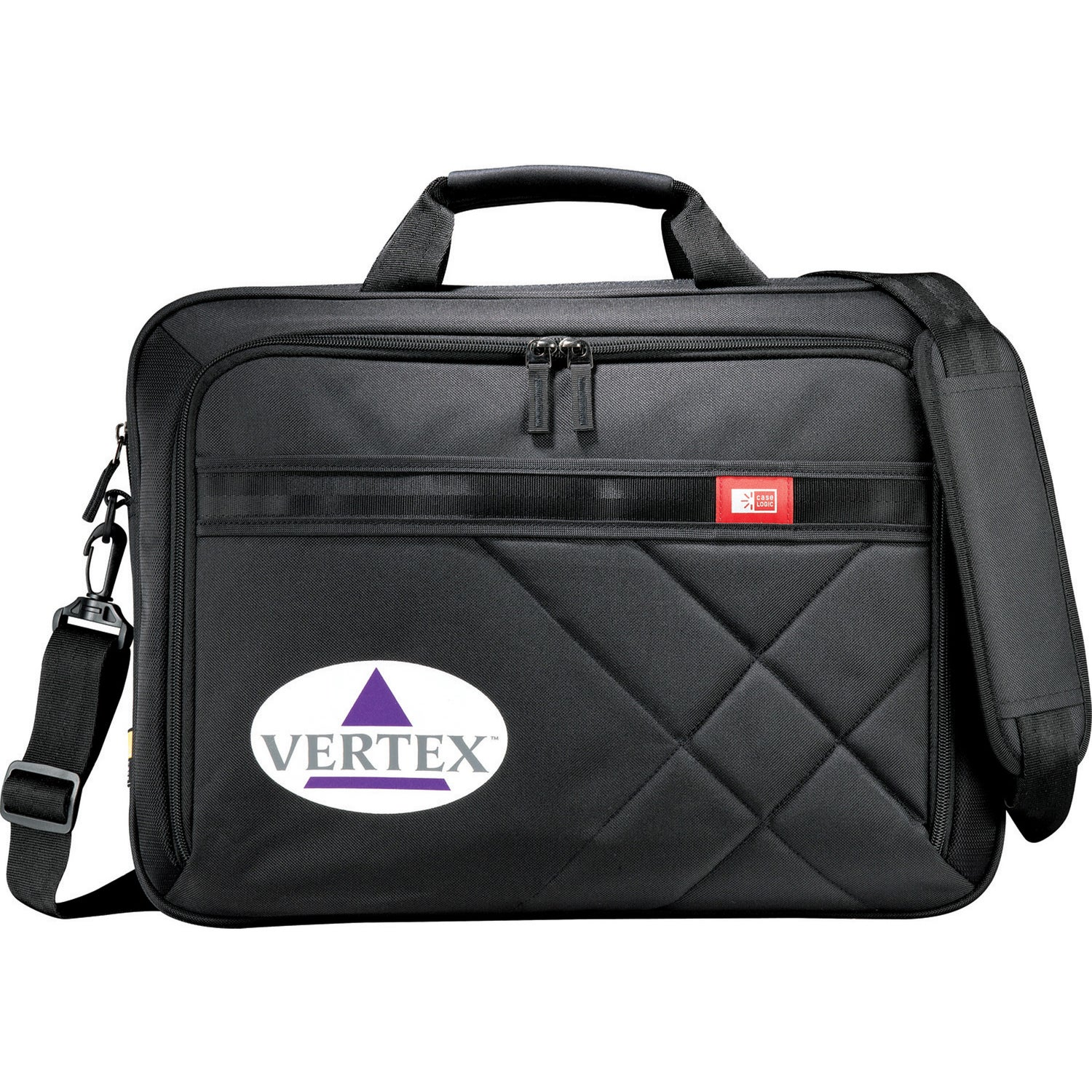 "Case Logic Cross-Hatch 17"" Computer Briefcase"