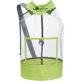 Custom Clear Barrel Sling Bag