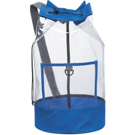 Customized Clear Barrel Sling Bag