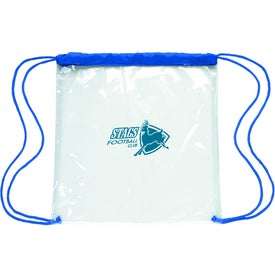 Advertising Clear Game Drawstring Backpack