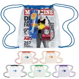 Clear Game Drawstring Backpack for Promotion