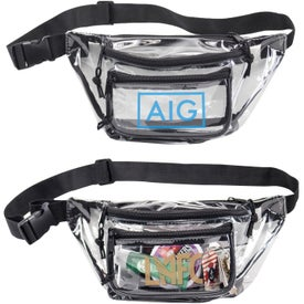 Clear Triple Zipper Fanny Packs
