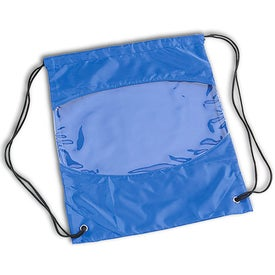 Advertising Clear-View Drawstring Bag