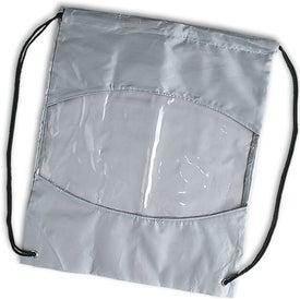 Logo Clear-View Drawstring Bag