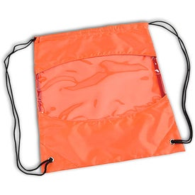 Clear-View Drawstring Bag Printed with Your Logo