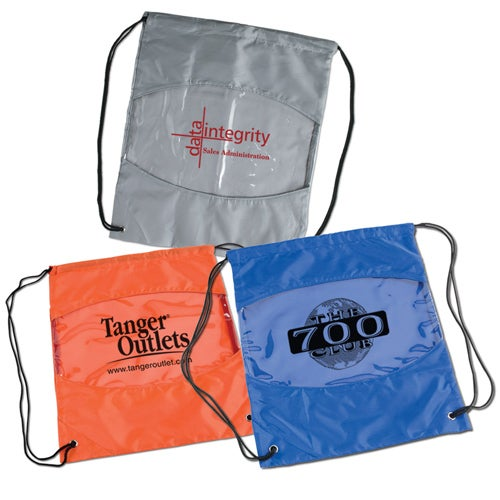 Group Photo Clear View Drawstring Bag Printed With Your Logo