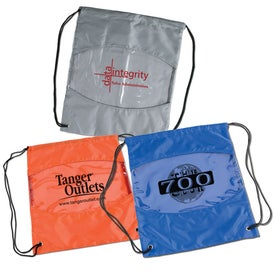Clear-View Drawstring Bag