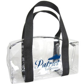 Clear Vinyl Barrel Bag