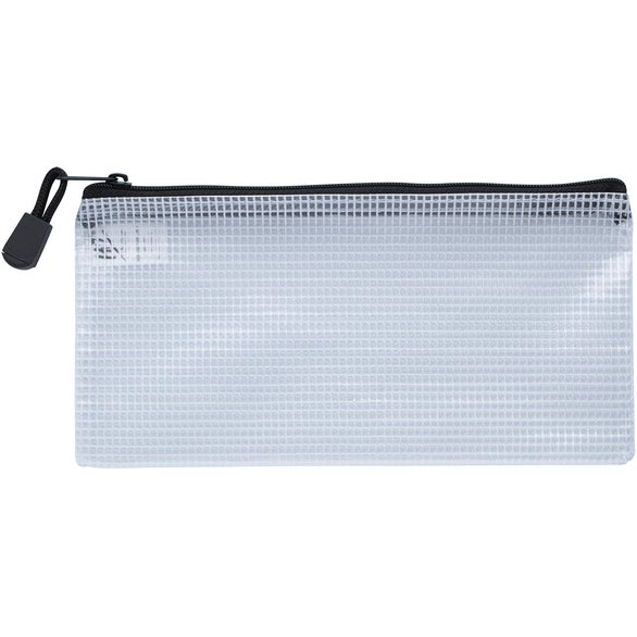 Clear / Black Zippered Pencil Pouch