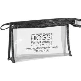 Customized Pima Zippered Amenities Bag