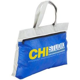 Monogrammed Clipper Zipper Brief Case Bag