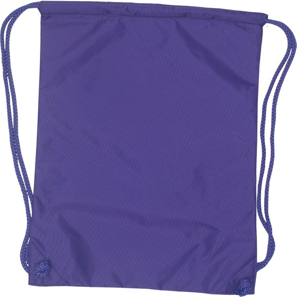 Purple College Drawstring Bag