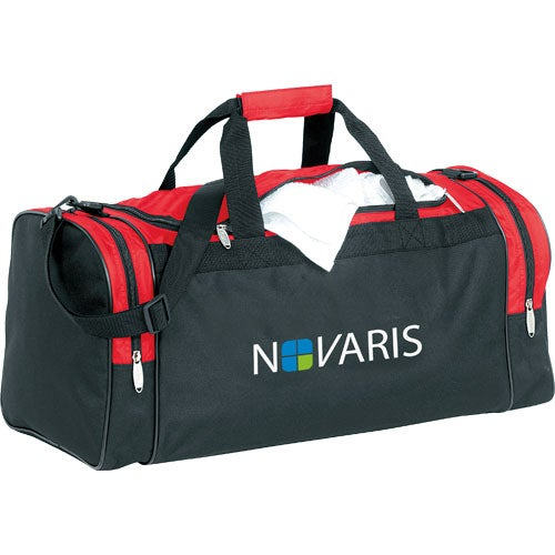 Black / Red Color Accent Club Duffel